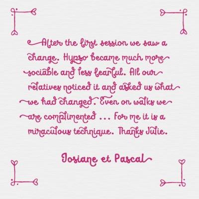 Feedback Josiane et Pascal